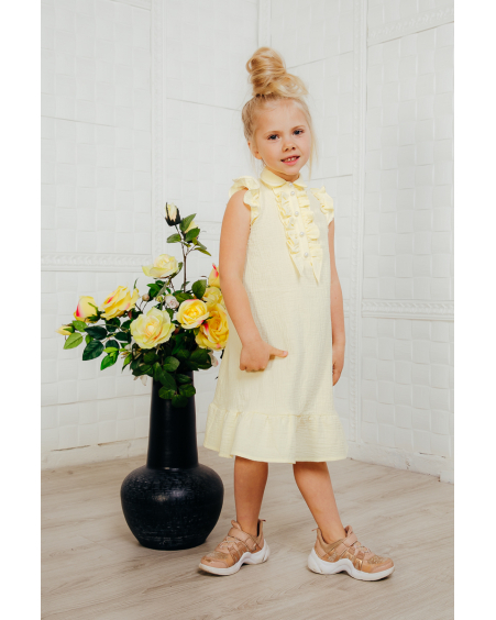 YELLOW KIDS FRILL DRESS