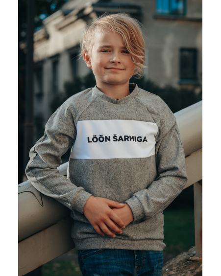 GREY LÖÖN ŠARMIGA KIDS SWEATER