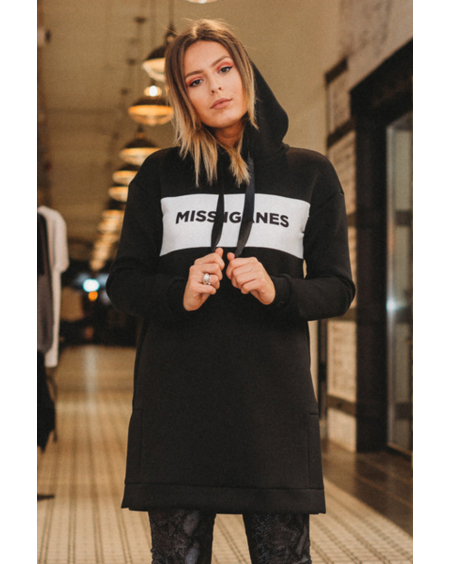MISS IGANES HOODED OVERSIZE DRESS