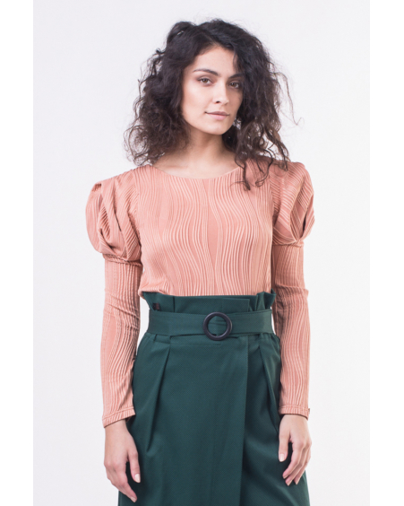 APRICOT ROSE SLEEVE SHIRT