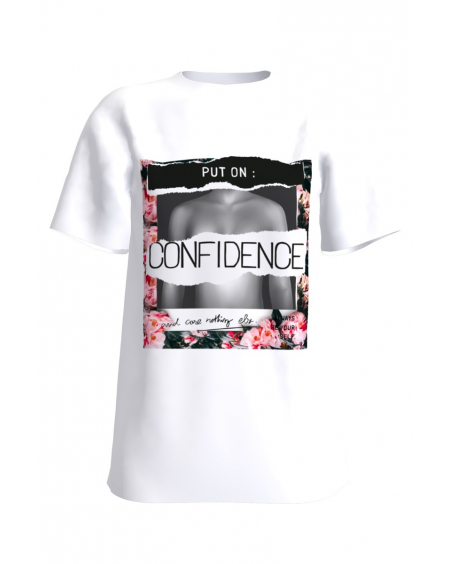 Confidence white t-shirt