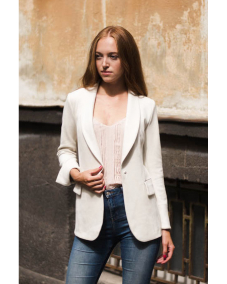 CREAM ELEGANT JACKET