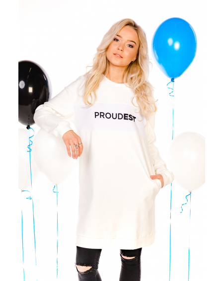 PROUDEST WHITE OVERSIZED DRESS