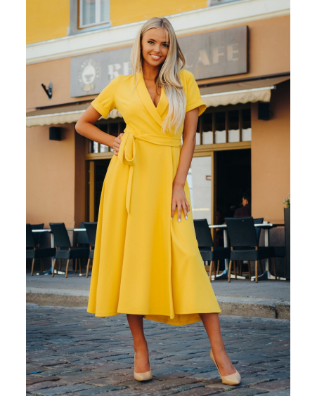YELLOW MOON MIDI DRESS