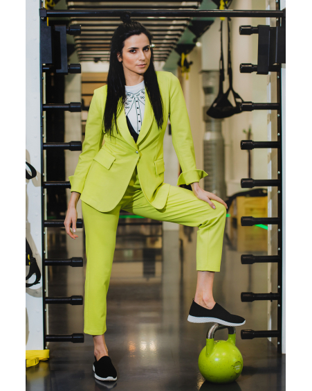 NEON GREEN POWER SUIT
