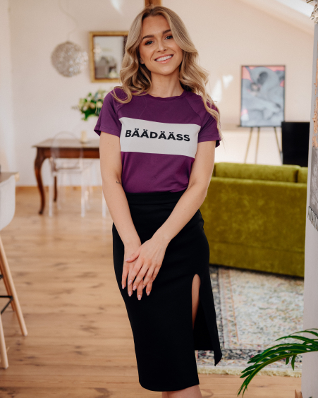 PURPLE BÄÄDÄÄSS T-SHIRT