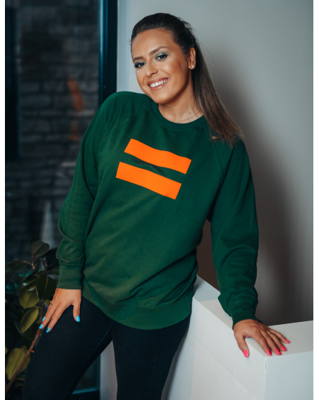 UNISEX GREEN ORANGE VÕRDSUS SWEATER