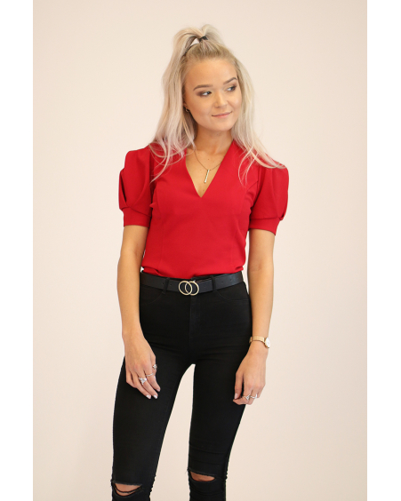 RED ROSE SLEEVE SHIRT