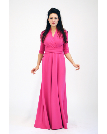 FUCHSIA MAXI ELEGANT DRESS