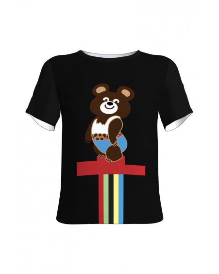 OLYMPIC BEAR BLACK T-SHIRT