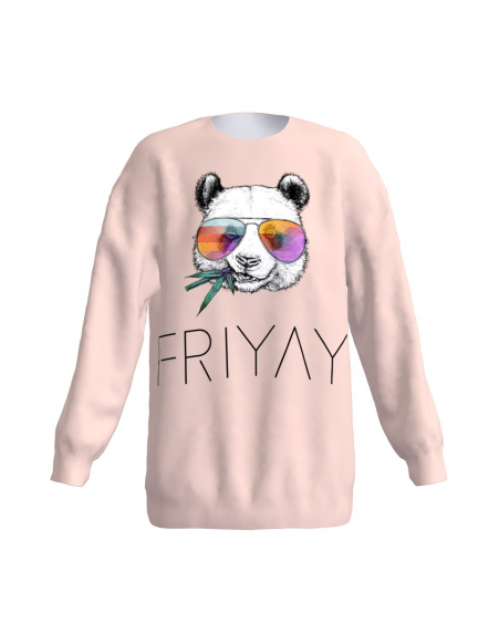 Friday Panda Loose Sweatshirt Unisex