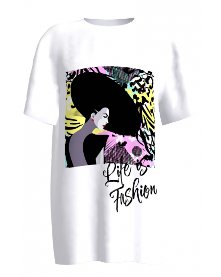 life is fashion white women's t-shirt