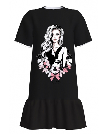 Love T-Shirt Dress With Frill