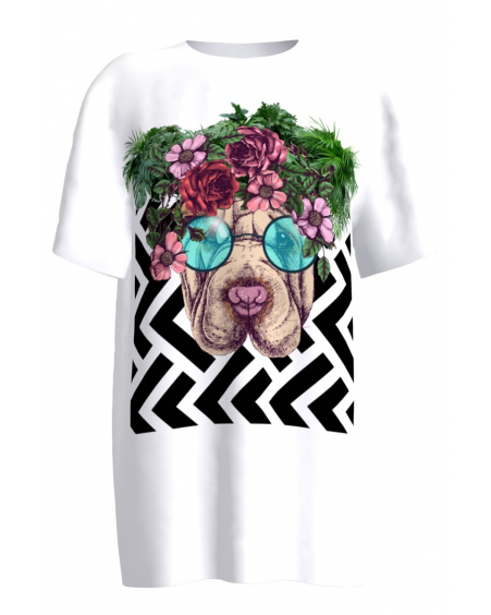 Flower Doggo T-Shirt