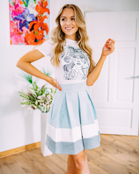 MINT SUEDE TRIO PETUNIA SKIRT