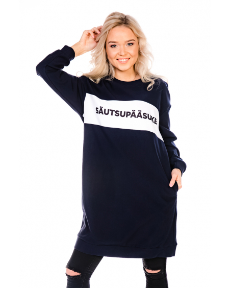 SÄUTSUPÄÄSUKE NAVY OVERSIZE DRESS