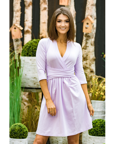 VIOLET ELEGANT MINI DRESS