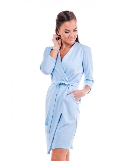 LIGHT BLUE TRENCH DRESS