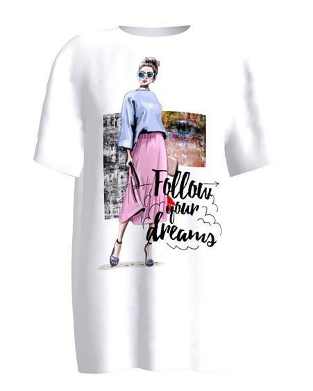 Follow your dreams white T-shirt