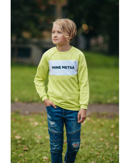 MINE METSA KIDS SWEATSHIRT LIME GREEN