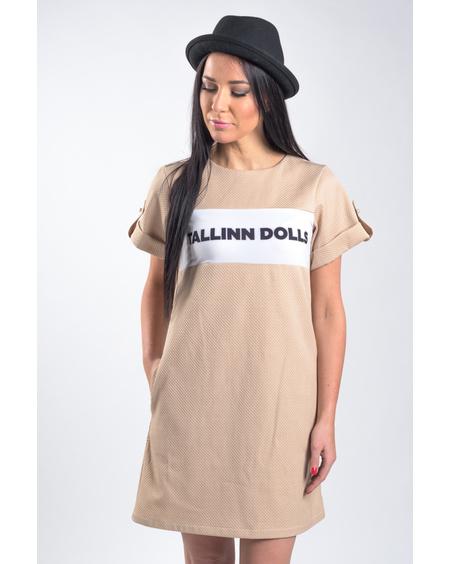 TALLINN DOLLS BEIGE PEARL DRESS