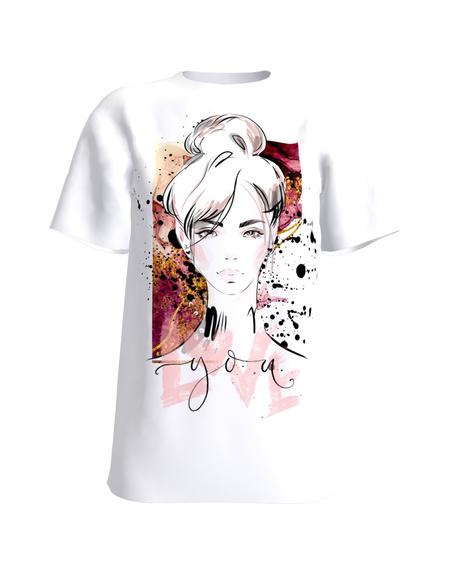 LOVE YOU white womens t-shirt