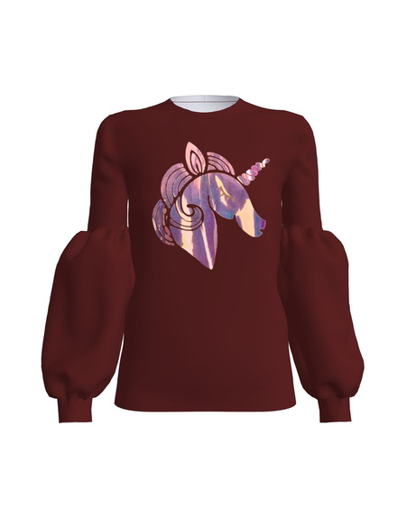 UNICORN ALICE SWEATSHIRT BORDEUX