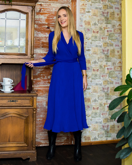 BLUE MOON MIDI DRESS