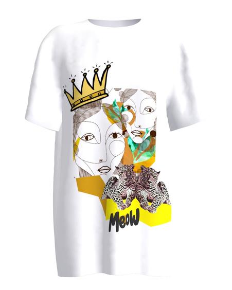 MEOW white women's t-shirt