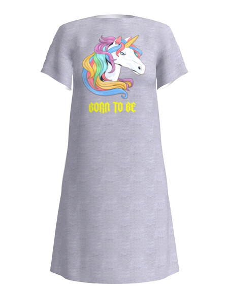 UNICORN DRESS LIGHT GREY