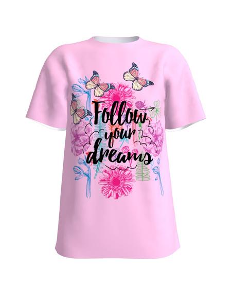 T-Shirt H UNISEX Light Pink Follow your dreams