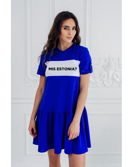 MIS ESTONIA BLUE PEARL FRILL DRESS