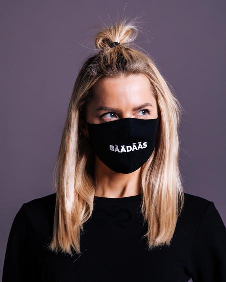 FACE MASK BÄÄDÄSS BLACK-1 PIECE