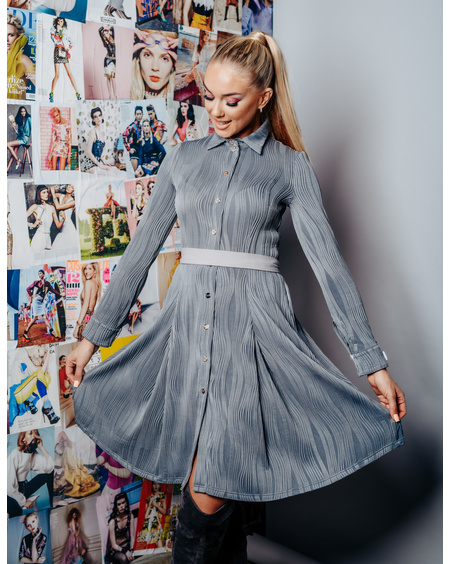 GREY PETUNIA MOTIVATION DRESS