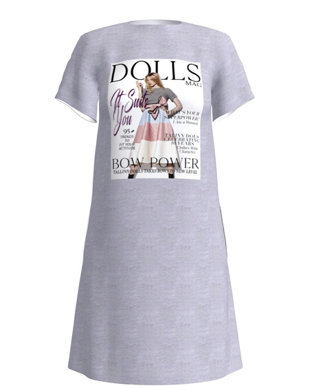 DOLLS MAGAZINE DRESS LIGHT GREY