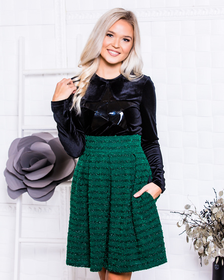 PETUNIA SKIRT GREEN SPARKLE