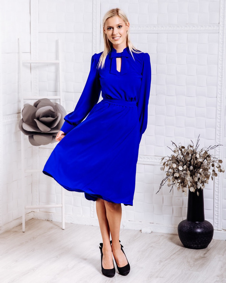DOLLABLE MIDI DRESS ELECTRIC BLUE