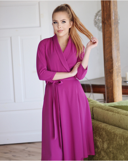 PURPLE MOON MIDI DRESS