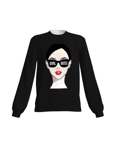 Girl Boss Sweater Black