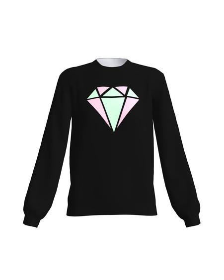 PASTEL DIAMOND SWEATSHIRT BLACK