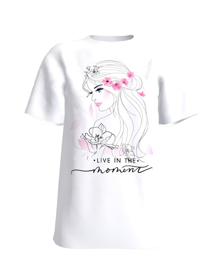 BEATIFUL MOMENT T-Shirt H UNISEX white
