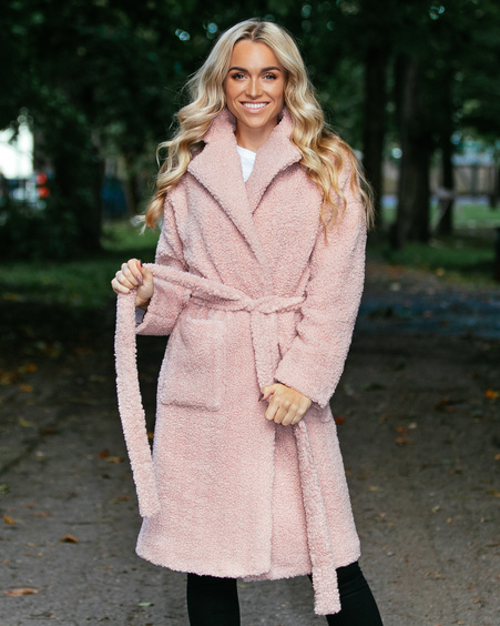 PEACHY PINK DREAMY COAT