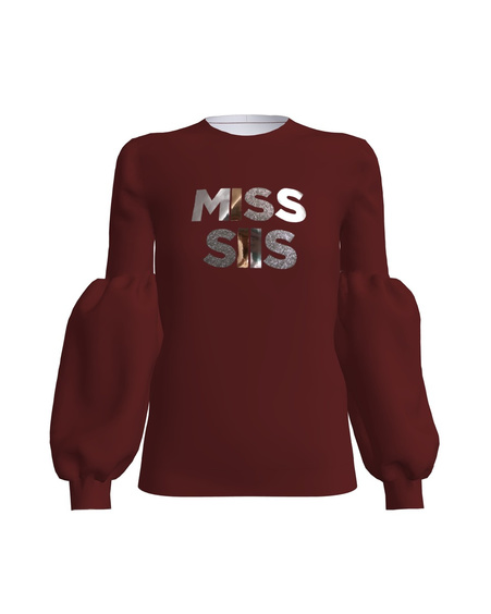 MISS SIIS ALICE SWEATSHIRT BORDEAUX