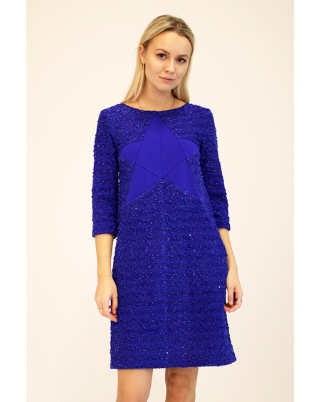 BLUE STAR KNIT DRESS