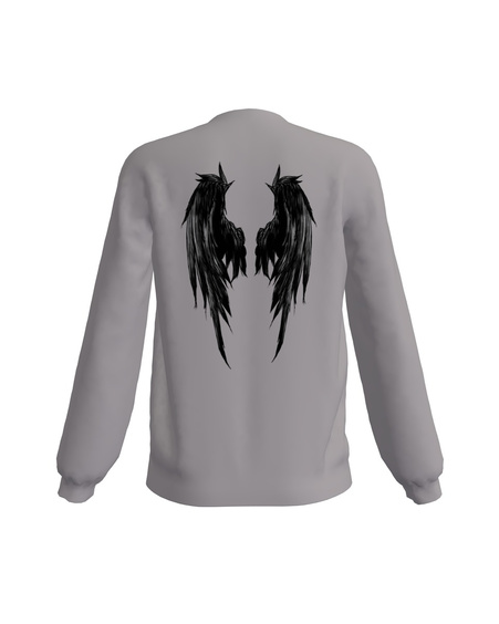 GREY NOT YOUR FUCKING ANGEL PRINT SWEATER