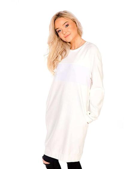 CUSTOM WHITE OVERSIZED DRESS