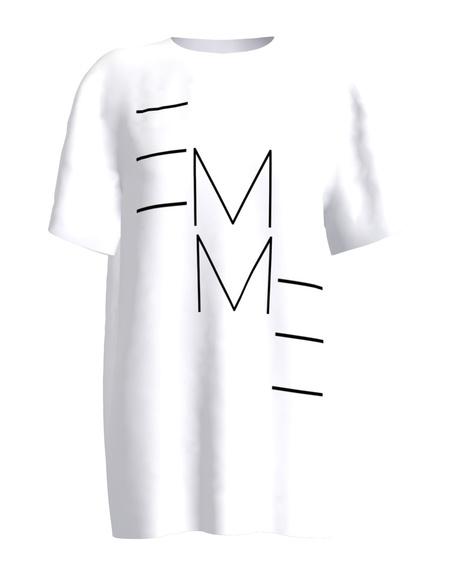 WHITE EMME PRINT T SHIRT