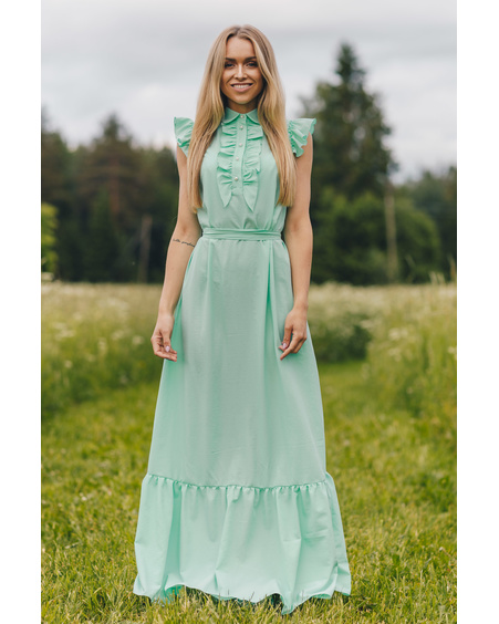 FRILL MINT MAXI DRESS