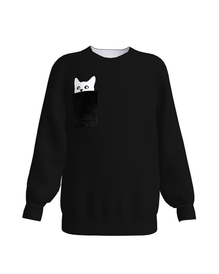 KITTY KIDS SWEATSHIRT BLACK
