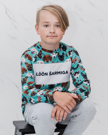 LÖÖN ŠARMIGA GREEN PETS KIDS SWEATER